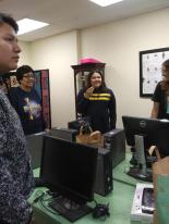 Dee Dee at Ponca Tribal Library